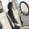 Leatherette Seat Cushions with Leather Steering-Wheel Cover