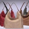 MMK Collection Women's Fringe-Accent Boho Handbag