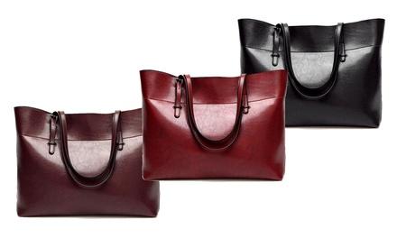 Damen-Tasche aus Leder in der Farbe nach Wahl (Sie sparen: 55%)