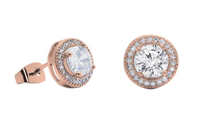 Swarovski Crystals Earrings Groupon Goods