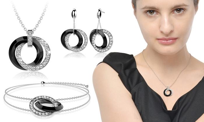 Greence international: Bijoux en céramique ornée de cristaux Swarovski® Lycio, livraison offerte