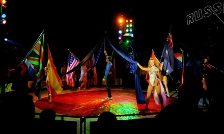 Russell's International Circus, Grandstand Tickets, 20 May 28 June, Four Locations