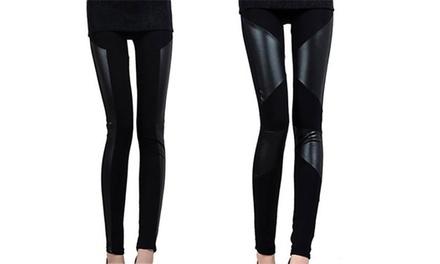 1 o 2 Leggings de efecto piel