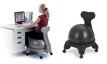 Sivan Health and Fitness Chair with Built-In Exercise Ball