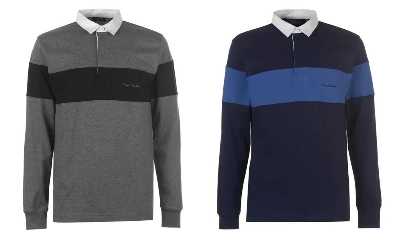 Pierre Cardin Long Sleeve Rugby Polo Shirt