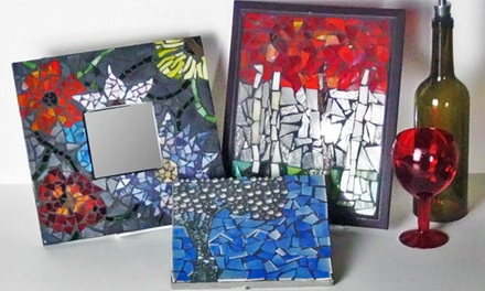 One, Two, or Four Groupons, Each Good for a BYOB Mosaic or Stained Glass Class at BonTon Designs (Up to 65% Off)