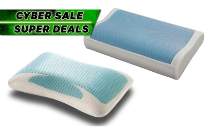 Standard or Contour Memory Foam Pillow with Cooling Gel: One ($35) or Two ($55) (Don't Pay up to $149)