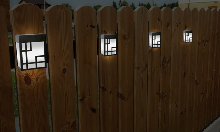Gardman Solar Wall Lights : Globrite Solar Fence Lights Groupon