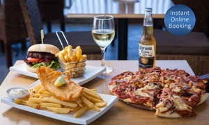 GMC Diner At The Shore: Pizza, Burger or Fish and Chip Meal with a Drink Each for One ($10) or Two People ($19) at GMC Diner At The Shore