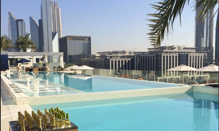 Sofitel Pool With Aed 100 Spend Mosaic Pool Amp Lounge