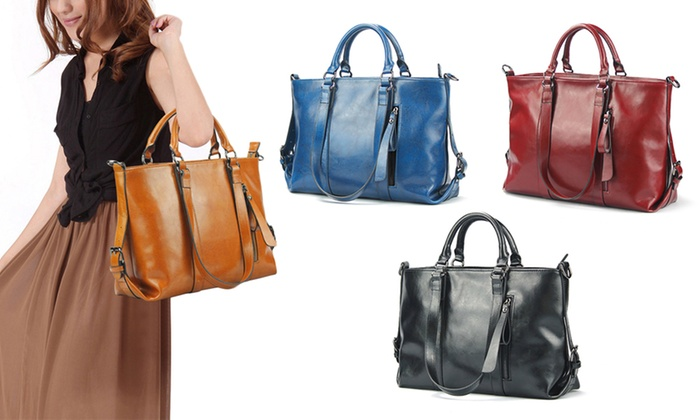 UDS Global Limited: $74 for a Genuine Cow Leather Carry-All Bag