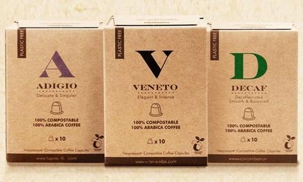 Pack de 100 cápsulas de café compostables