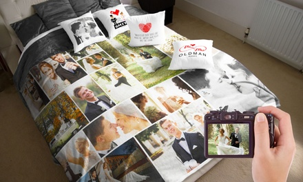 Custom Faux-Mink Photo Blankets and Pillow Cushion Covers (Up to 81% Off). Four Options Available.