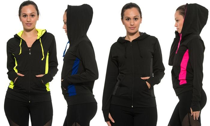 ca355663f 33 Flex Women s Activewear Zip-Up Jacket with Hoodie