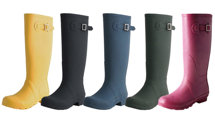 c64d2ee178d Up To 39% Off on Women's Matte Finish Rain Boots | Groupon Goods