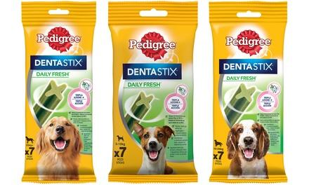 : 3x Confezione / Pedigree Dentastix Fresh Snack (cane piccolo 5-10 kg) 110 g (7 pezzi)