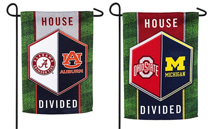 Exceptionnel Team Sports America NCAA House Divided Garden Flags