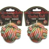 Bow Wow Pet Holiday Knotted Rope Balls (3-Pack)