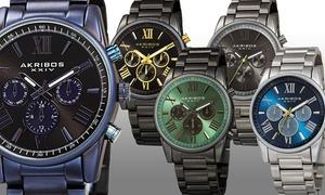 Akribos XXIV Men's Swiss Quartz Multifunction Watch