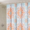 Artistic Linen Maddy Shower Curtain with 12 Roller Hooks