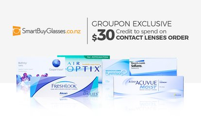 $15 for $30 to Spend on Contact Lenses at SmartBuyGlasses