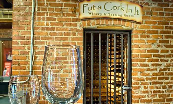 Put A Cork In It - Put A Cork In It: Wine Tasting with Souvenir Glasses for Two or Four at Put A Cork In It (55% Off)
