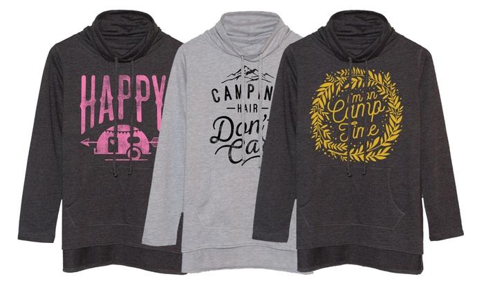 Ladies' Funnel-Neck Camping Sweatshirt
