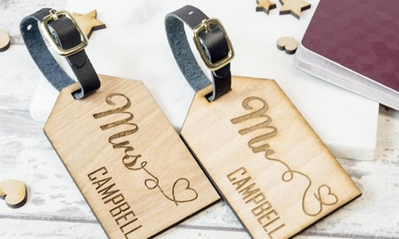 for a Personalised Wooden Luggage Tag Don't Pay up to $52