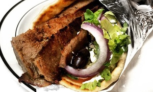 Paradise Restaurant & Cafe: Middle Eastern and Greek Food at Paradise Restaurant & Cafe (Up to 42% Off). Three Options Available.