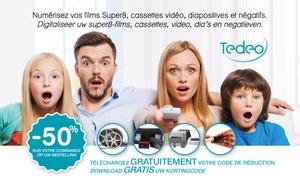 Tedeo.com: Bon de réduction 50 % sur tous les services de numérisation Tedeo