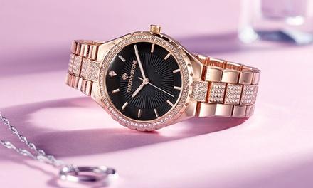 1 o 2 orologi Gala Timothy Stone con 200 cristalli Swarovski®, disponibili in vari modelli, con spedizione gratuita