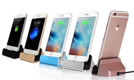 1 ou 2 Stations de charge pour iPhone 5, 5C, 5S, SE, 6, 6S, 6+, 6S+, 7, 7+/8/8+, X, avec câble tressé de chargement