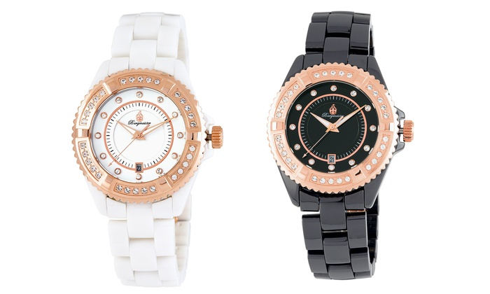 Burgmeister Ceramic Athen Watch with Crystals from Swarovski® from £175