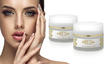 Fino a 6 creme per il viso rivitalizzanti Oro 24 K con acido ialuronico e collagene