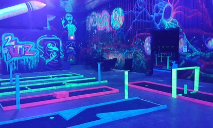 image for Unlimited Rounds of Indoor Glo Golf for 2, 4, 6, or up to 15 at 2 Puttz Glo Golf (Up to 50% Off)