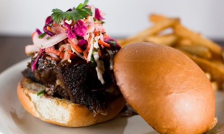 American Barbecue Cuisine with Salads and Vegetables at Hickory 'n Hops (Up to 30% Off). Two Options Available.