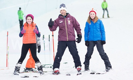 Ski or Snowboarding Lesson, Level One to Three for One or Two or Full Day of Lessons at Chill Factore