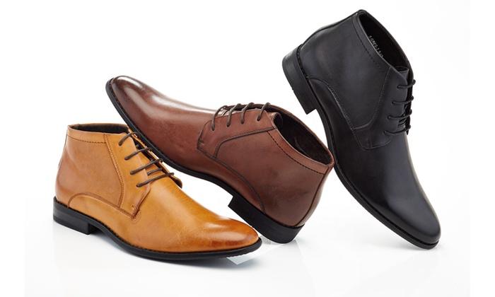 3e10ae07020 Franco Vanucci Men's Lace-Up Ankle Dress Boots | Groupon