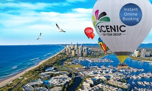 Balloon Aloft Gold Coast: Hot Air Ballooning for 1 ($198) or 2 People with Optional Breakfast ($448) at Scenic Day Tour Group (Up to $648 Value)