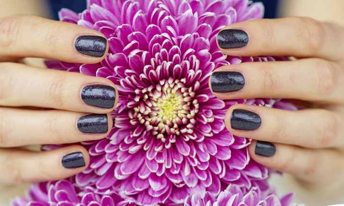 Growing Hands Salon & Spa - Jefferson Square Plaza : One or Three Shellac Manicures and Paraffin Treatments at Growing Hands Salon & Spa (Up to 51% Off)