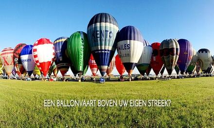 Vol et après-ballooning avec champagne pour 1, 2 ou 10 personnes dès 99 €
