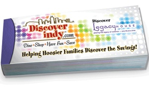 Discover Indy: $15 for one Discover Indy Savings Book ($25 Value)