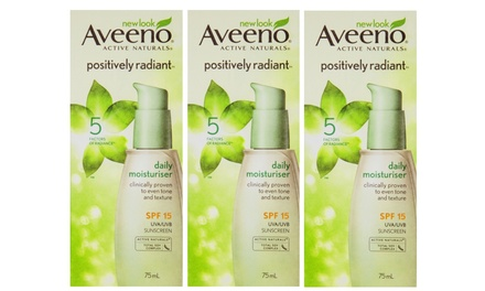Aveeno Active Naturals Positively Radiant SPF15 Daily Moisturiser 75ml: Three $17 or Six $27 Don't Pay up to $119.70