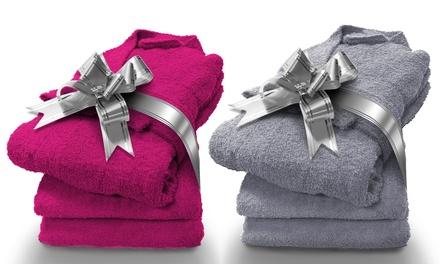 Idée cadeau : Peignoir à lunité ou avec des serviettes de toilette. Eponge qualité supérieure 100% coton