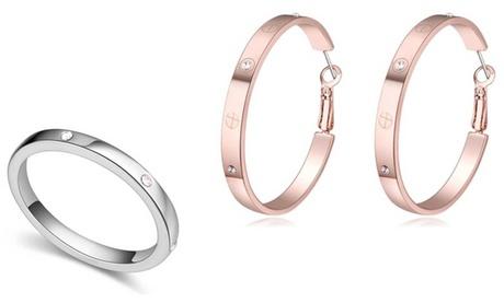 Joyería adornada con cristales Swarovski®: anillos y pendientes