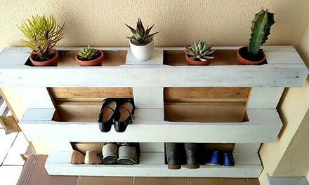One (AED 299) or Two (AED 579) Rustic Style Handcrafted Pallet Shoe Racks