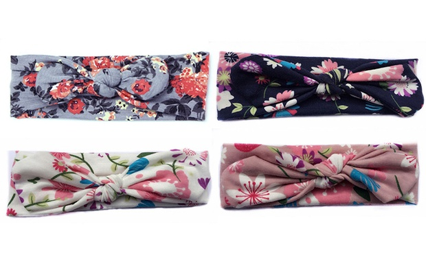 Womens or Girls Soft Elastic Headbands: Two (from $7.95) or Four (from $12.95)