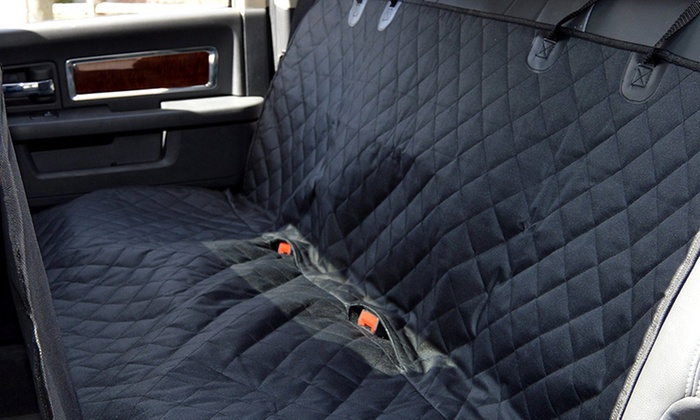 Car Bench Seat Cover For Dogs With Free Pet Seatbelt