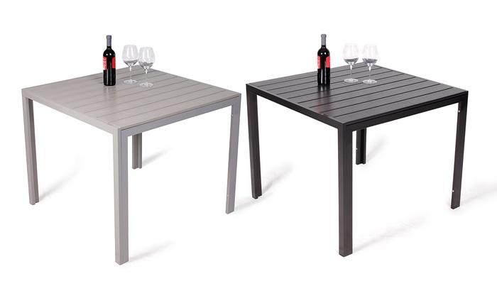 Gartentisch alu 90x90  Vanage Polywood-Alu Gartentisch | Groupon