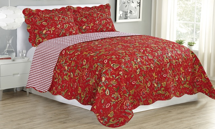Bedding Bedspread Set Home Westland Quilted Plush  Multiple Colors and Size